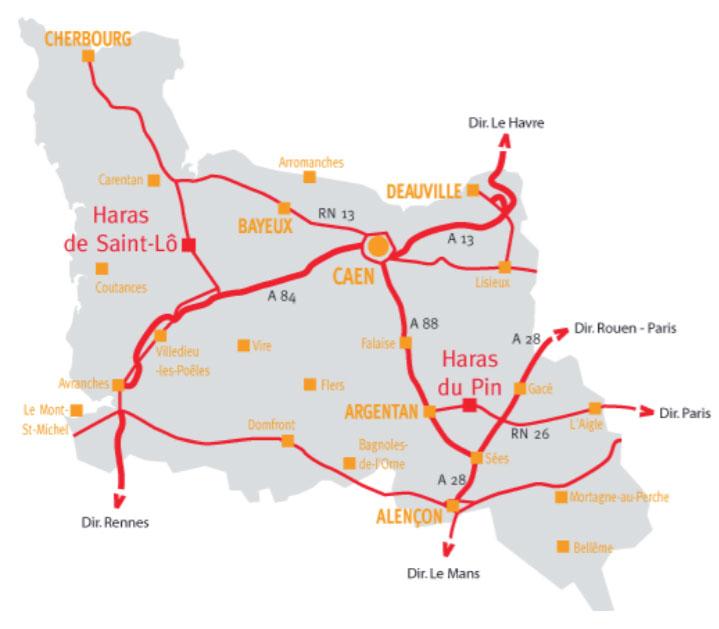 Plan d'accès Haras national du Pin