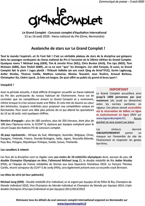 Press release Le Pin 2020 - Programme